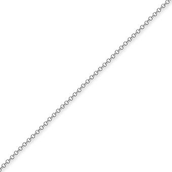 Jewelco London Sterling sølv 2mm gauge Micro Belcher Chain