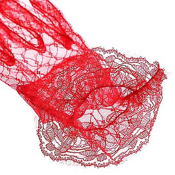Short Lace Bridal Gloves
