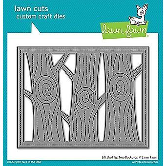 Gazon Fawn Lift de Flap Tree Achtergrond sterft