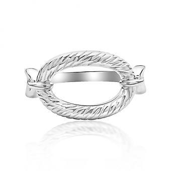 Rachel Galley OC308-SV-MD Women's Ocean Link Ring - Size N