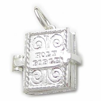 Bibelen Sterling Silver Åbning Charm 0,925 X 1 Lords Prayer Inside Charms - 4471