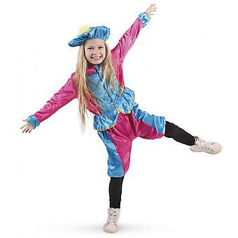 Pietenpak Junior Polyester Blauw / Roze 3-Delig Maat M