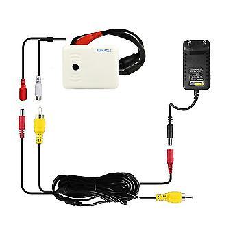 Cctv høj følsom, mikrofon kit med 10m Rca Audio Power Kabel og Dc 12v