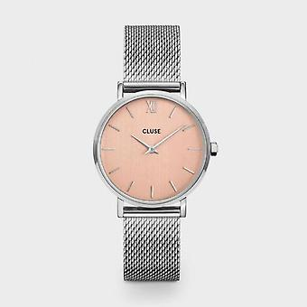 Cluse Unisex Minuit Silver Circle Quartz Fashion Watch CW0101203029