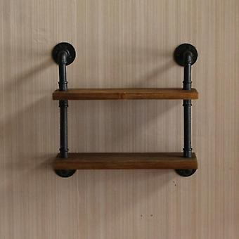 Simple Modern Iron Art Shelf/creative Bookshelf Board Partition Wall Hanging