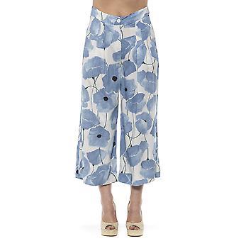 女性のアルファ スタジオ ブルー パンツ