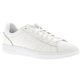 K-Swiss Court Winston Mens Leather Trainers White UK Size