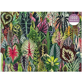 Household Forest Plants - 1000 Piece Adult Puzzle Holiday Pattern (red)