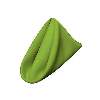 La Leinen Pack-10 Polyester Poplin Serviette 18 von 18-Zoll, Limette