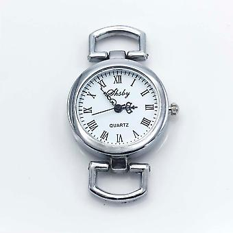 Shabby Diy Personality Silver Watch Header Roman Numerals Circle Watch