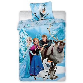 Disney Frost Frozen 117 Elsa Anna Olof Sven Kristoffer Påslakanset Bäddset