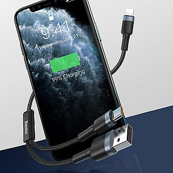 Baseus 2in1 Lightning -kaapeli iPhonelle - 18W pikalaturi - Erittäin tukeva punottu kaapeli - USB-A-liitin - USB Type-C -kaapeli 2 in 1