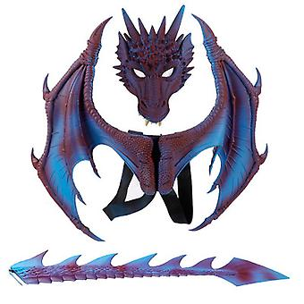 Party Cosplay Mask For Adults Kids Masquerade Costumes Horrible Dragon Mask Wings Tail Halloween Costume Set