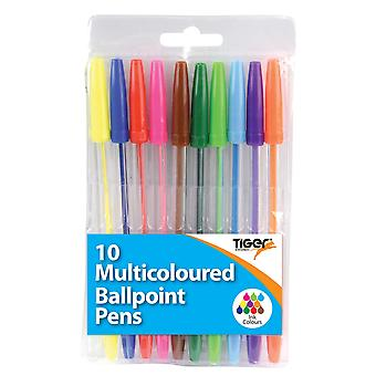 Tiger Stationery Ballpoint Pen (Pack of 10)