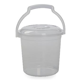 Hobby Life 5 Litre Clear Plastic Bucket With Lid