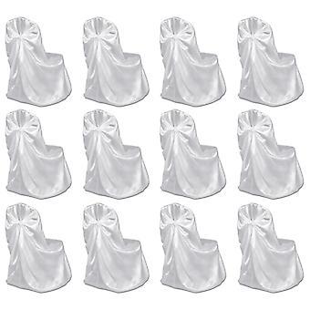 vidaxl 婚宴椅子封面 12 件。 白色