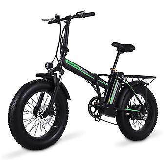 الاشياء المعتمدة® دراجة كهربائية قابلة للطي - على الطرق الوعرة الذكية E الدراجة - 500W - 15 آه البطارية - أسود