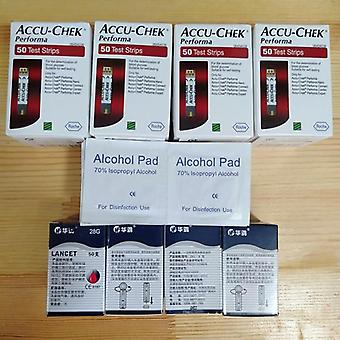 Utgång 31st.01 Accu-chek Performa Blood Glucose Test Strips, Sanitizer Alkohol