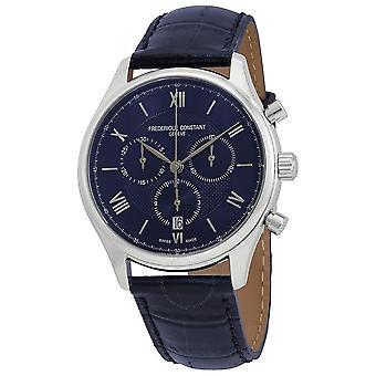 Frederique Constant Classics Chronograph Quartz Blue Dial Men's Watch FC-292MN5B6