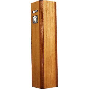 Wooden Ultra-slim Portable Lipstick Power Bank