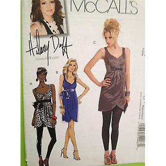 McCalls ompelu kuvio 5878 Naiset Misses Tunic Mekko Koko 12-18 Leikkaamaton