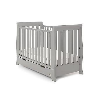 Obaby Stamford Mini Sleigh Cot Bed - Warm Grey