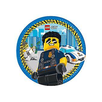 8 FSC kartonnen borden® Lego City 23 cm