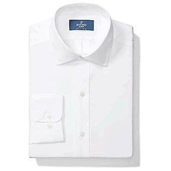 """Brand - Buttoned Down Men's Classic-Fit Spread Collar Solid Non-Iron Dress Shirt (No Pocket), White, 20"""" Neck 37"""" Sleeve (Big and Tall)"""
