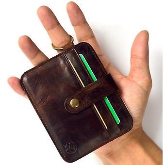 Sevjink genuinos hombres de cuero cartera Inglaterra estilo largas carteras clutch carteras de tarjeta de fotos marrón sólido bolso vintage hasp carteras