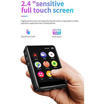 HanFei 16 GB MP3-Player mit Bluetooth 2,4-Zoll-Voll-Touchscreen HiFi Lossless Metal Music Player