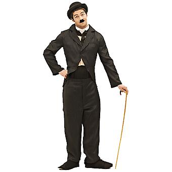 Orion kostymer mens Charlie Chaplin Silent Movie 20s svart kostym film fancy Dress