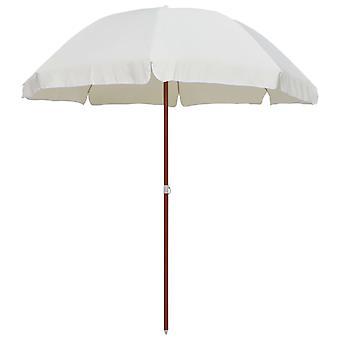vidaXL-aurinkovarjo teräsmastolla 240 cm hiekan värit