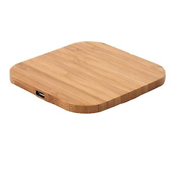 10W Portable Wireless Charger, Slim Wood Charging Pad