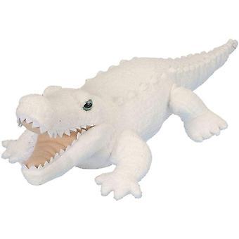 FengChun 12259 Plsch Weier Alligator, Krokodil, Kuschelkuschelkuscheln, Plschtier, 30 cm