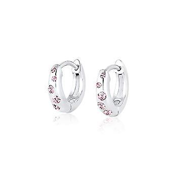 Pendientes infantiles criollos rosa elli con cristales swarovski de plata de ley 925(1)