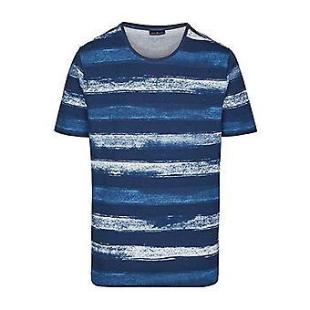 Daniel Hechter T-Shirt Alloverprint, Multicolored (Midnight Blue 690), M Men's