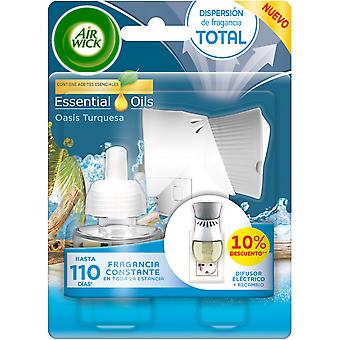 Air Wick Oasis Turquoise Electric Air Freshener Device and refill