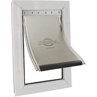 Aluminium Hundeklappe, Magnet Verschluss begrenzt Zugluft, Haustierklappe, Aluminium Rahmen,