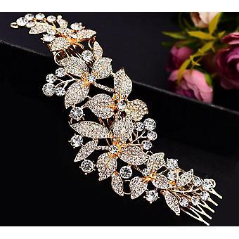 Acessórios de cabelo de noiva, coroas de noiva de flor de ação