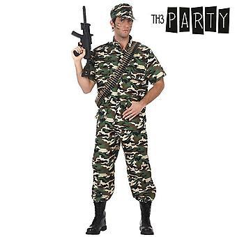 Puku Aikuisille Naamiointi sotilas