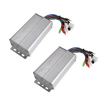 2x Electric Vehicle 36V 350W Brushless Controller Motor for Scooters
