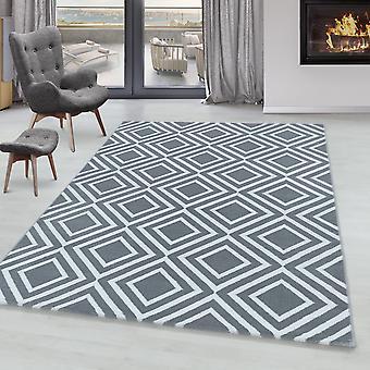 Tappeto soggiorno RICA Pile corta Soft Pile Diamonds Grid Design