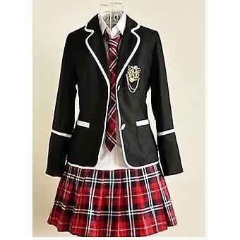 Student lange mouwen school uniform, -meisje uniform set