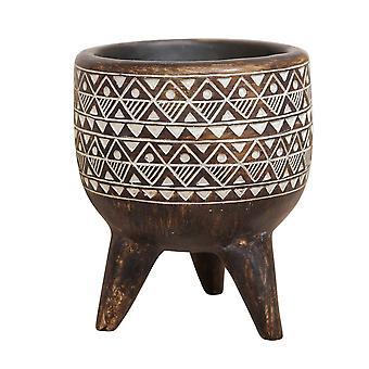Aztec mønstret dekorativ plantageejer - 13cm