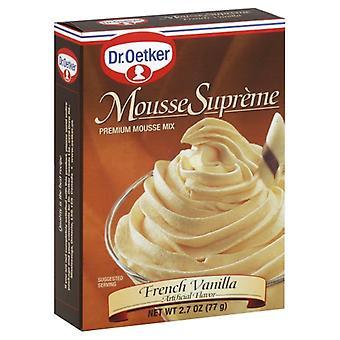 Dr. Oetker Mousse Suprm Frnch Vanill, Caso de 12 X 2.7 Oz