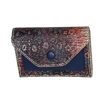 LOGO by Lori Goldstein Embossed Wallet With RFID Blue A287185