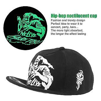 Mode licht in donkere nacht lichtgevende gloed Snapback Baseball hiphop cap hoed