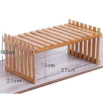 Desktop Flower Stand Mini Bamboo Small Flower Stand Office Storage Rack Window(GROUP4)