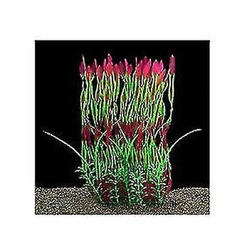 Velké akvarijní rostliny umělé plastové akvária rostliny dekorace (červená)
