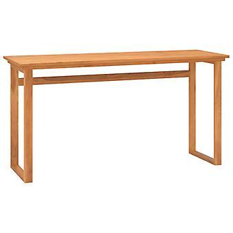 vidaXL skrivebord 140x45x75 cm massivt træ teak